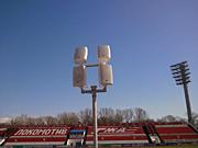 Звуковое оборудование для стадиона Нижний Новгород: Уличный громкоговоритель уличный стадион Локомотив громкоговорители