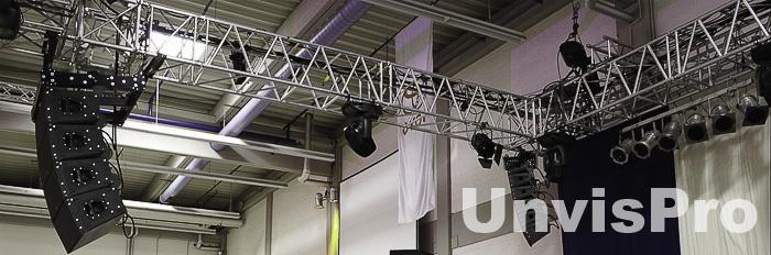 Концертное оборудование: создание стационарных и мобильных звуковых комплектов различного уровня сложности - это специализация компании Унвис-Про
