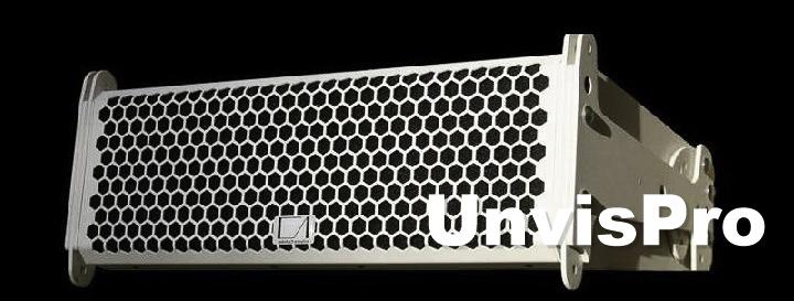 Белый линейный массив DIVA в Унвис-Про для небольших концертных залов, театров, храмов