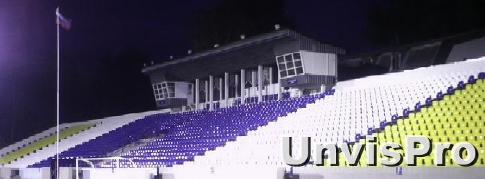 Звуковое оборудование на стадионе Труд Коломна Московской области Унвис-Про