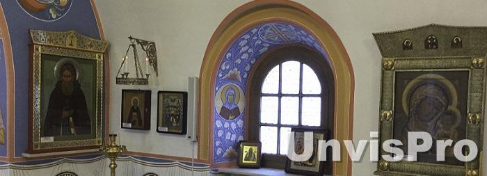 Звуковые колонны в интерьере Церкви Святого Преподобного Сергия Радонежского