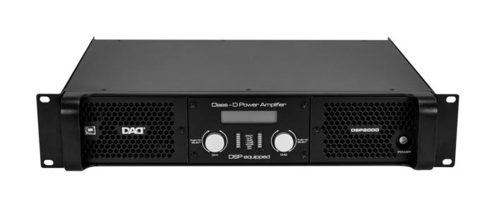 Профессиональный усилитель D-класса с процессором DSP2000: 650 Втх2/8Ом