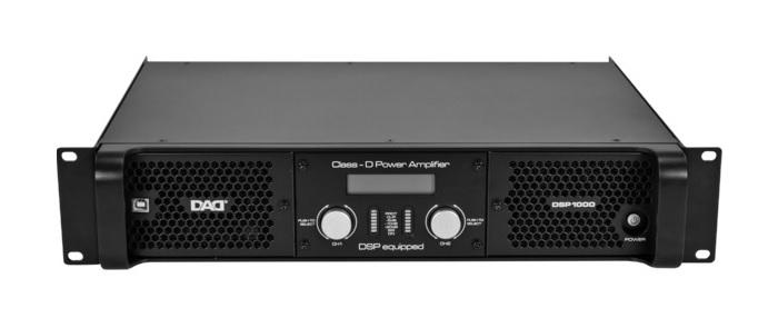 Низкоомный усилитель D-класса c DSP DSP1000: 350 Втх2/8Ом