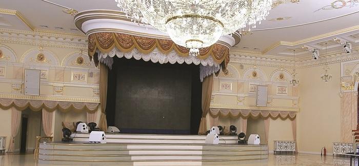 проектирование и комплексная инсталляция звукового, светового, видео оборудования для зала торжеств SaFiSa вместимостью 800 человек