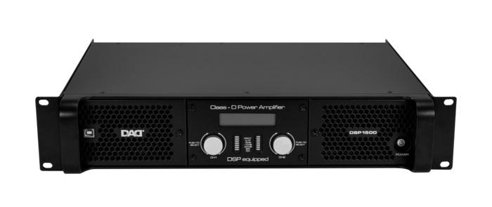 Усилители мощности D-класса с процессором DSP1500: 500 Втх2/8Ом