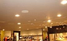 Инсталляция звукового оборудования в магазинах: динамики потолочные и монтаж аудио оборудования