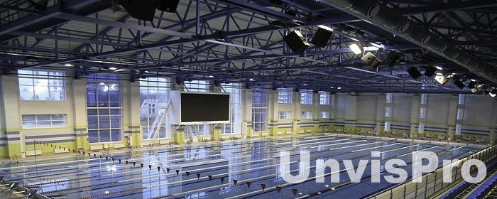 Подвес акустических систем в бассейне